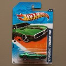 Hot Wheels 2011 Street Beasts '67 Pontiac Firebird 400 (green)