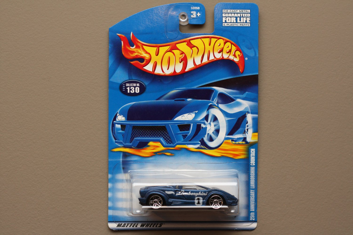 hot wheels 2001 collector series 25th anniversary lamborghini countach blue. Black Bedroom Furniture Sets. Home Design Ideas