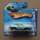 Hot Wheels 2010 Muscle Mania '69 Pontiac Firebird T/A (teal)