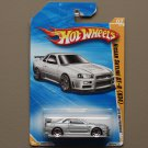 Hot Wheels 2010 HW Premiere Nissan Skyline GT-R (R34) (silver) (SEE CONDITION)