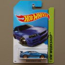 Hot Wheels 2014 HW Workshop Nissan Skyline GT-R (R34) (blue)