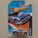 Hot Wheels 2011 HW Racing '57 Chevy (blue)