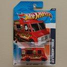 Hot Wheels 2011 HW City Works Ice Cream Truck (red)