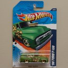 Hot Wheels 2011 Heat Fleet '56 Ford F-100 (green)