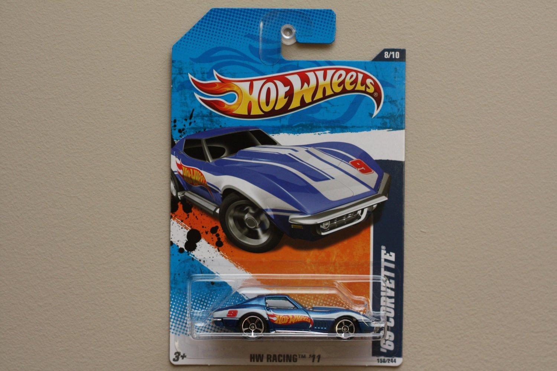 Hot Wheels 2011 HW Racing '69 Corvette (blue)