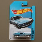 Hot Wheels 2014 HW City '67 Custom Mustang (blue)