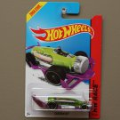 Hot Wheels 2014 HW Race Carbonator (green/purple) (bottle opener) (black wheels variation)