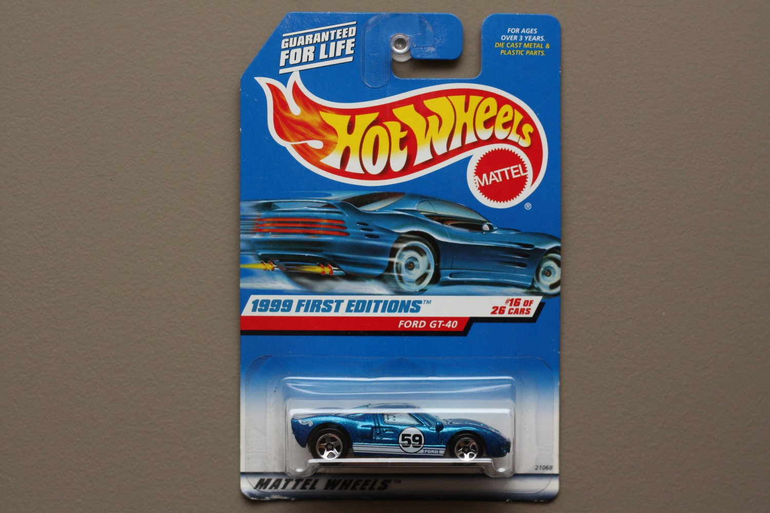 Hot Wheels 1999 First Editions Ford GT-40 (blue)