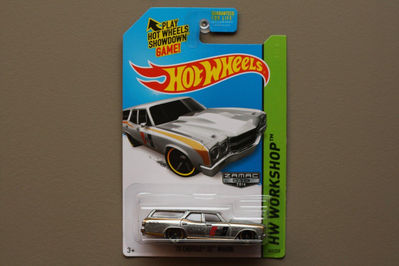 Hot Wheels 2014 HW Workshop '70 Chevelle SS Wagon (ZAMAC silver - Walmart Excl.)