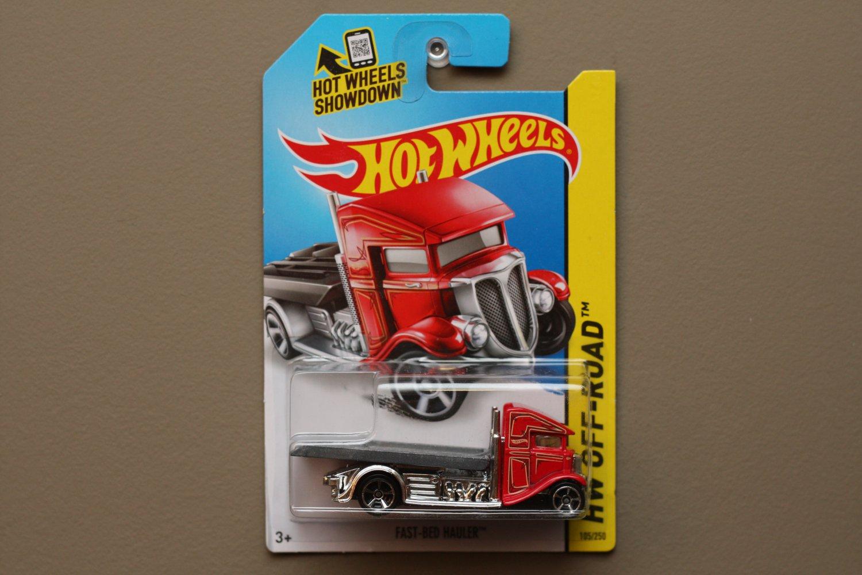 Hot Wheels 2014 HW Off-Road Fast-Bed Hauler (red)