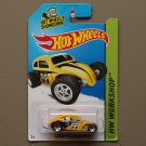 Hot Wheels 2014 HW Workshop Custom Volkswagen Beetle (yellow)