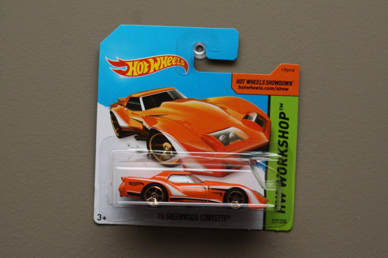 Hot Wheels 2014 HW Workshop '76 Greenwood Corvette (orange)