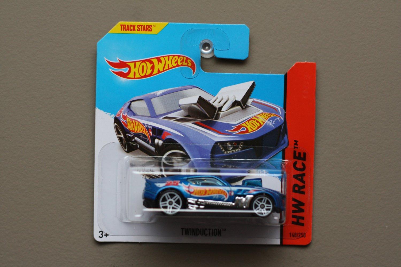 Hot Wheels 2014 HW Race Twinduction (blue) (Treasure Hunt)