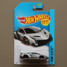 Hot Wheels 2014 HW City Lamborghini Veneno (silver) (SEE CONDITION)