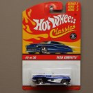 Hot Wheels 2006 Classics Series 2 1958 Corvette (blue chrome)