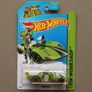 [PACKAGE ERROR] Hot Wheels 2014 HW Workshop Twin Mill (green) / HW City Knight Draggin (green)