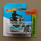 Hot Wheels 2014 HW Workshop Harley-Davidson Fat Boy (turquoise)