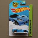Hot Wheels 2014 HW Workshop 2014 Corvette Stingray (blue)
