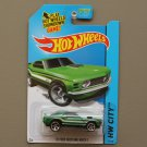 Hot Wheels 2014 HW City '70 Ford Mustang Mach 1 (green)