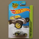 Hot Wheels 2014 HW Workshop Custom Volkswagen Beetle (ZAMAC silver - Walmart Excl.)