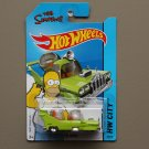 Hot Wheels 2014 HW City The Homer (The Simpsons) (green) (SEE CONDITION)