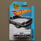 Hot Wheels 2014 HW City '67 Custom Mustang (ZAMAC silver - Walmart Excl.) (SEE CONDITION)