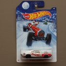 Hot Wheels 2014 Christmas Holiday '70 Dodge Charger R/T (white)