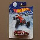 Hot Wheels 2014 Christmas Holiday Honda Civic (burgundy) (SEE CONDITION)
