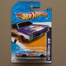 Hot Wheels 2012 HW Racing '67 Pontiac GTO (blue) (SEE CONDITION)