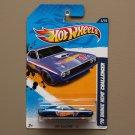 Hot Wheels 2012 HW Racing '70 Dodge HEMI Challenger (blue)