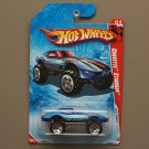 Hot Wheels 2010 Race World Jungle Corvette Stingray (blue) (see condition)