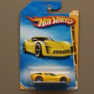 Hot Wheels 2010 HW Premiere '09 Corvette Stingray Concept (yellow) (SEE CONDITION)