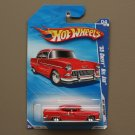 Hot Wheels 2010 Hot Auction '55 Chevy Bel Air (red) (SEE CONDITION)