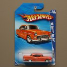 Hot Wheels 2010 Hot Auction '55 Chevy Bel Air (orange) (SEE CONDITION)