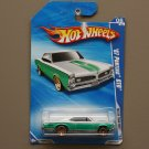 Hot Wheels 2010 Faster Than Ever '67 Pontiac GTO (teal/white) (SEE CONDITION)