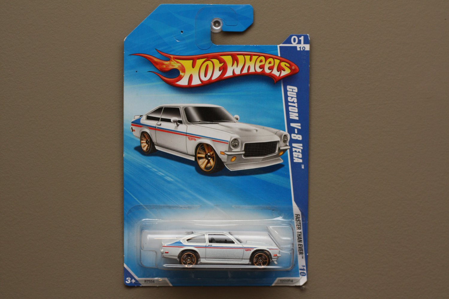 Hot Wheels 2010 Faster Than Ever Custom V8 Vega (white) (see condition)