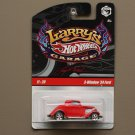 Hot Wheels 2009 Larry's Garage 3-Window '34 Ford (red)