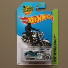 Hot Wheels 2014 HW Workshop Harley-Davidson Fat Boy (spectraflame teal) (Super Treasure Hunt)