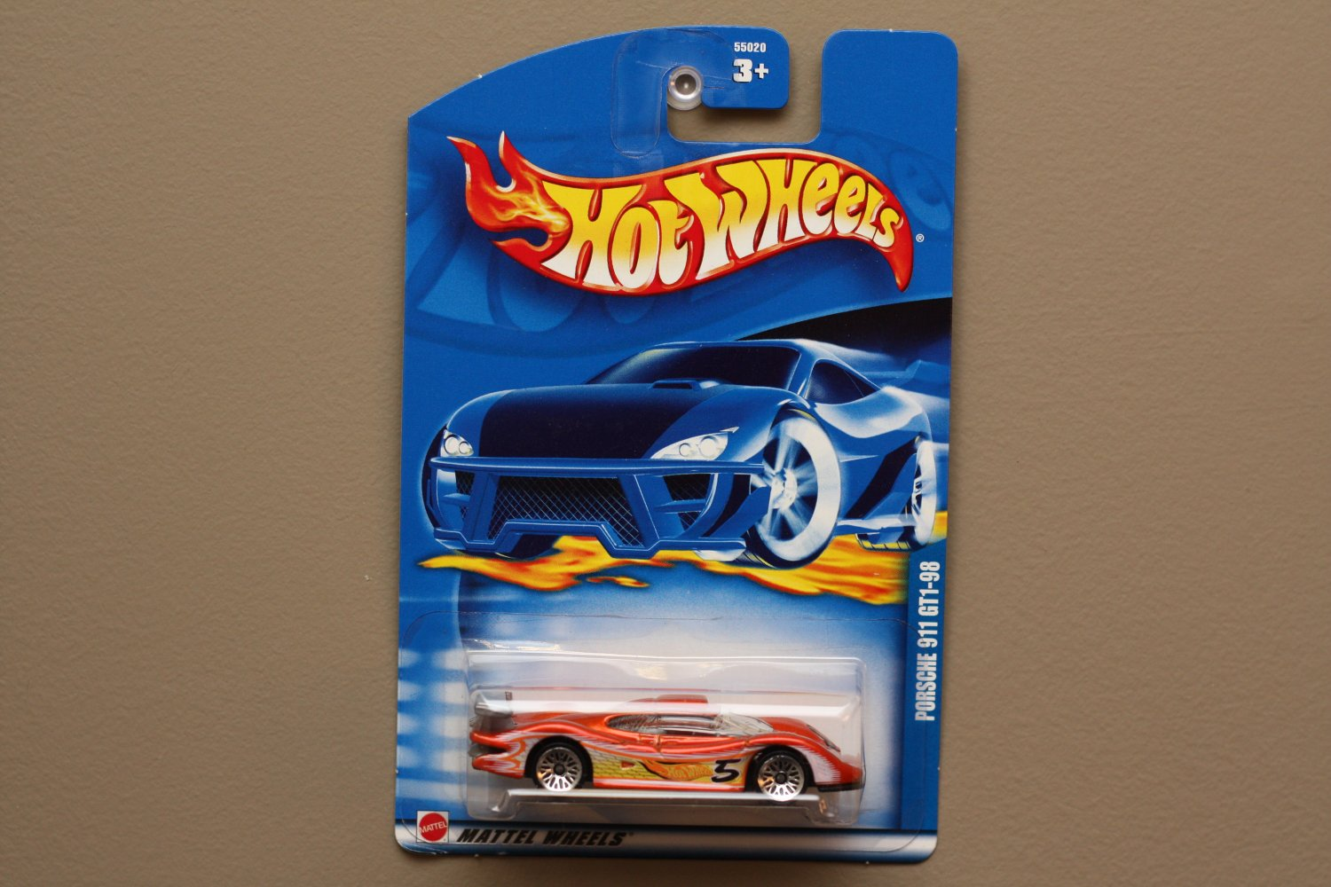 hot wheels 2002 collector series porsche 911 gt1 98 orange