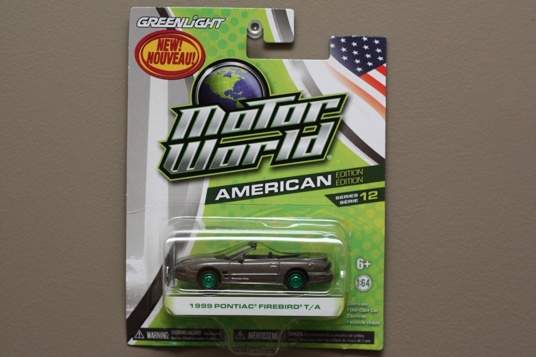 Greenlight Motor World Series 12 American Ed. '99 Pontiac Firebird (Green Machine) (SEE CONDITION)