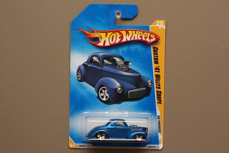 Hot Wheels 2009 HW Premiere Custom '41 Willys Coupe (blue)