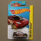 Hot Wheels 2015 HW Off-Road '12 Ford Fiesta (burgundy) (SEE CONDITION)