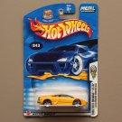 Hot Wheels 2003 First Editions Lamborghini Murcielago (yellow) (SEE CONDITION)