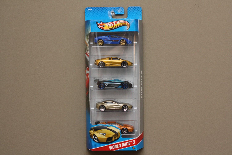 Hot Wheels 2013 Hw City World Race 5 Pack Lamborghini