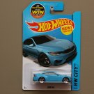 Hot Wheels 2015 HW City BMW M4 (blue)