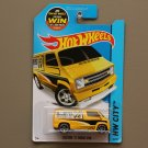 Hot Wheels 2015 HW City Custom '77 Dodge Van (yellow) (SEE CONDITION)