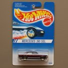 Hot Wheels 1994 Model Series Mercedes 380 SEL (burgundy) (gold 7-spoke wheels)