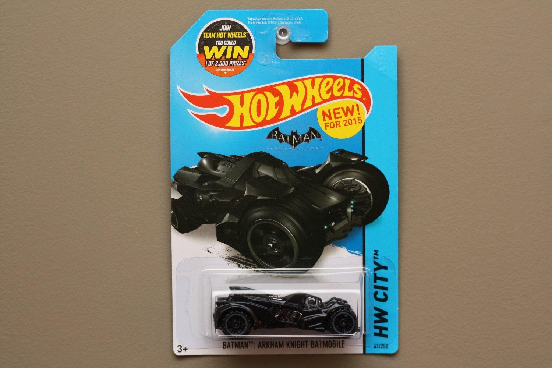 Hot Wheels 2015 HW City Batman Arkham Knight Batmobile (SEE CONDITION)