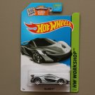 Hot Wheels 2015 HW Workshop McLaren P1 (silver) (SEE CONDITION)