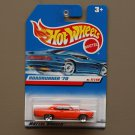 Hot Wheels 1998 First Editions '70 Plymouth Road Runner (orange)